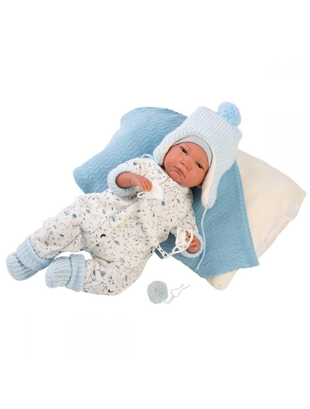 Llorens 18007 Lalka Reborn 42cm niebieski
