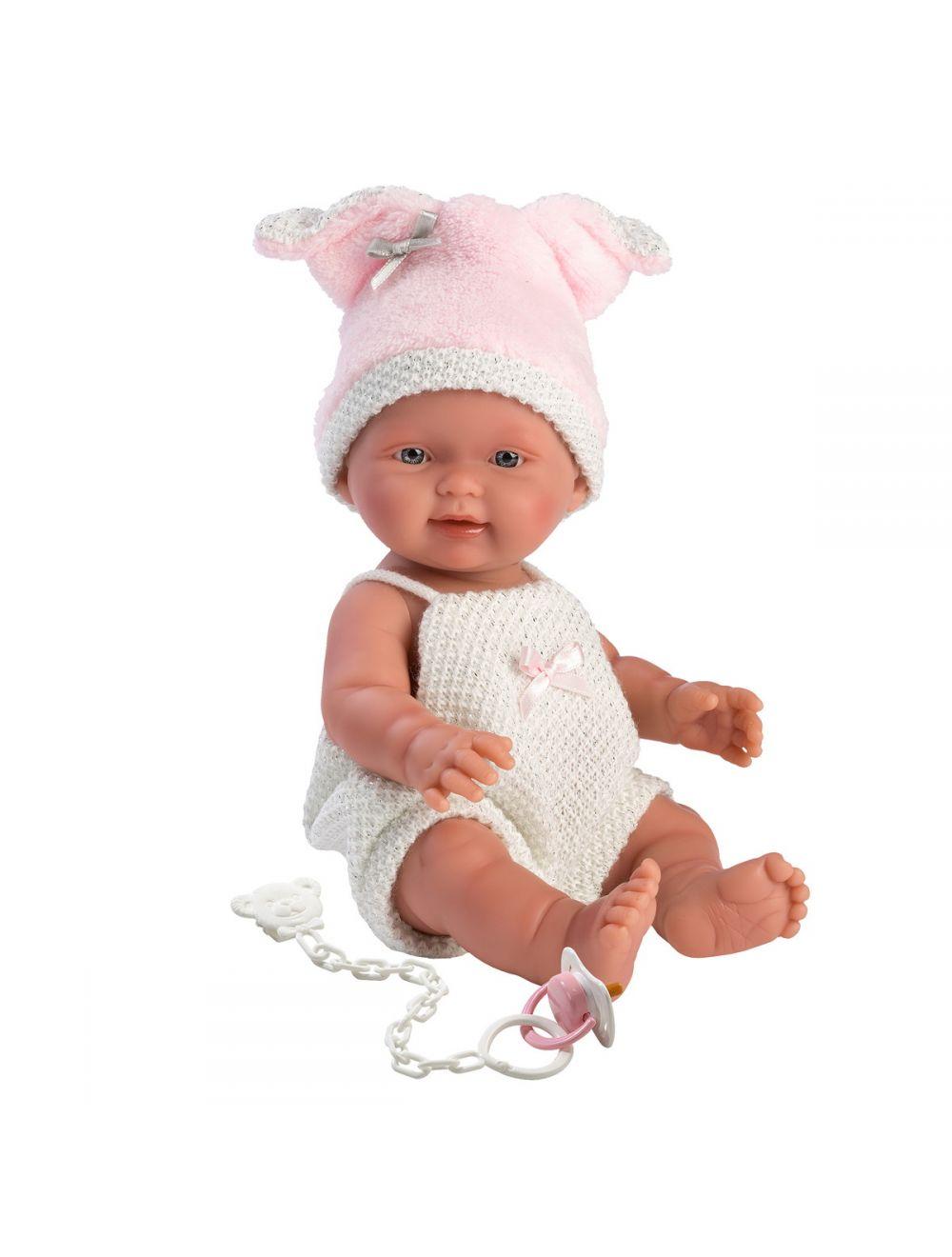 Llorens 26277 Lalka bobas Bebita 26cm świnka białe spodenki FB