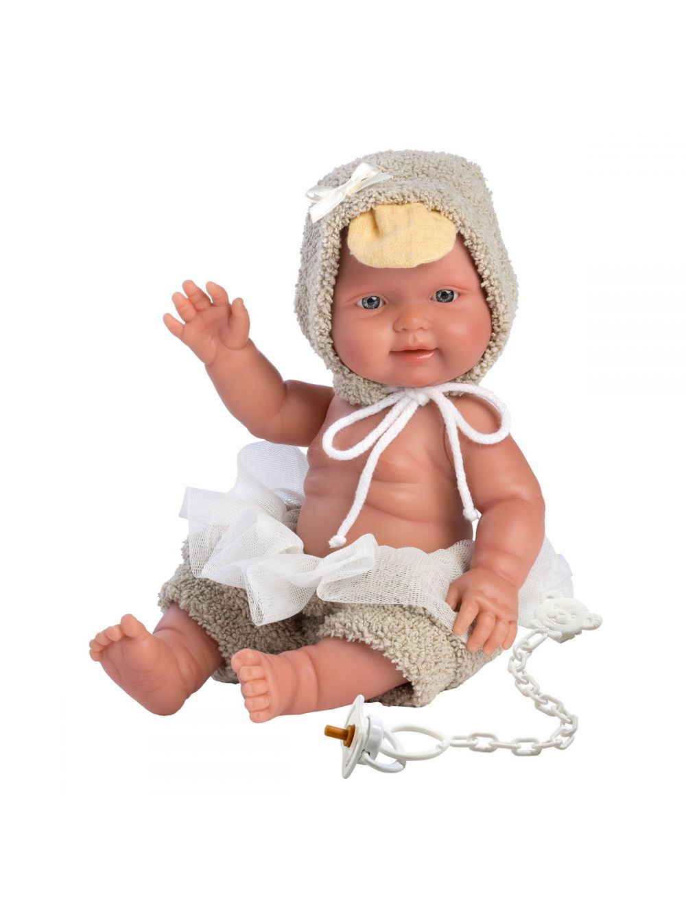 Llorens 26282 Lalka bobas 26 cm chłopiec beżowa kaczor FB