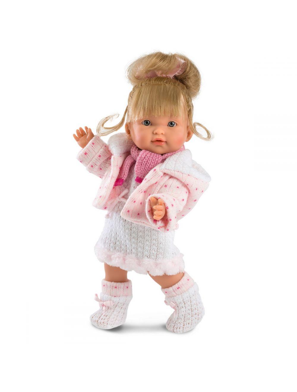 Llorens Lalka Valeria Europejka 28 cm w różowej sukience