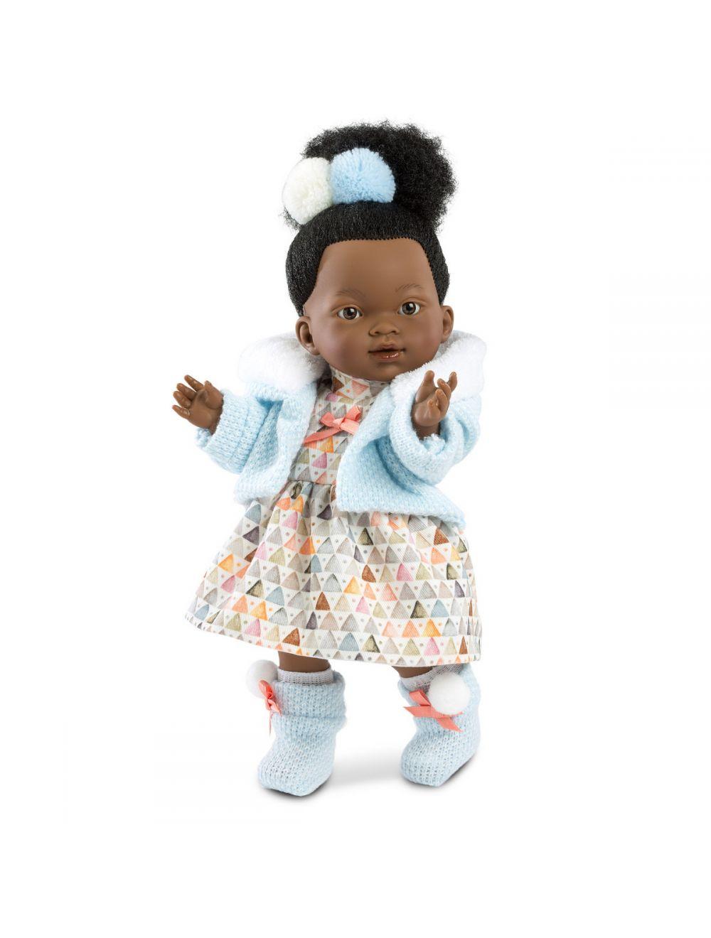 Llorens Lalka Valeria Afrykanka 28 cm w kolorowej sukience