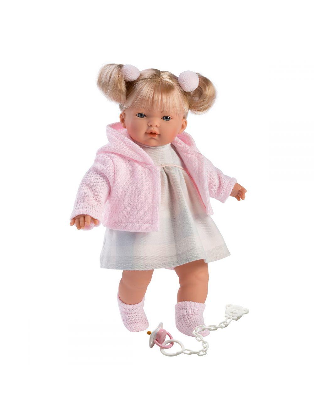 Llorens 33102 Lalka płacząca Aitana 33 cm różowa blondynka