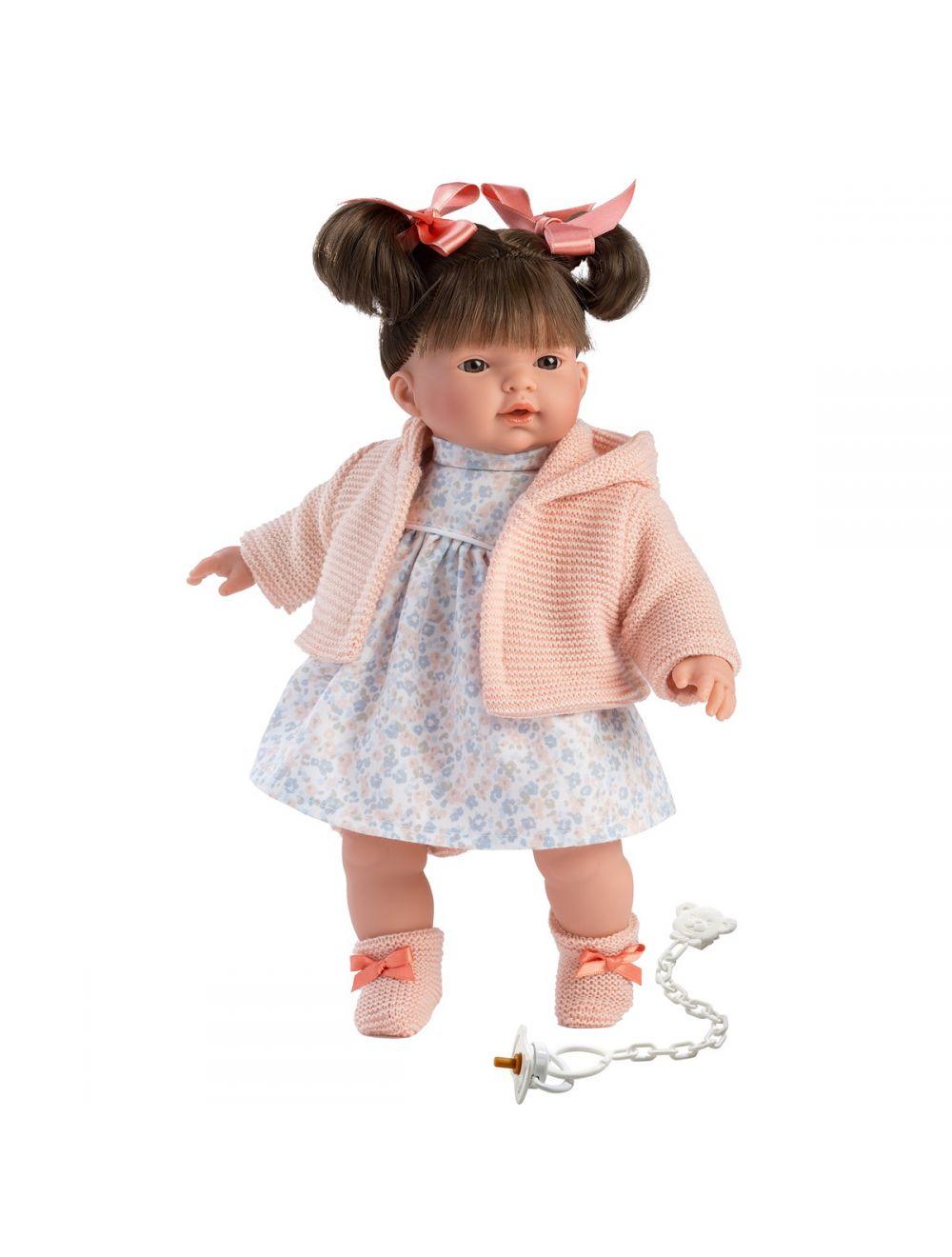 Llorens 33104 Lalka płacząca Rita 33 cm różowa