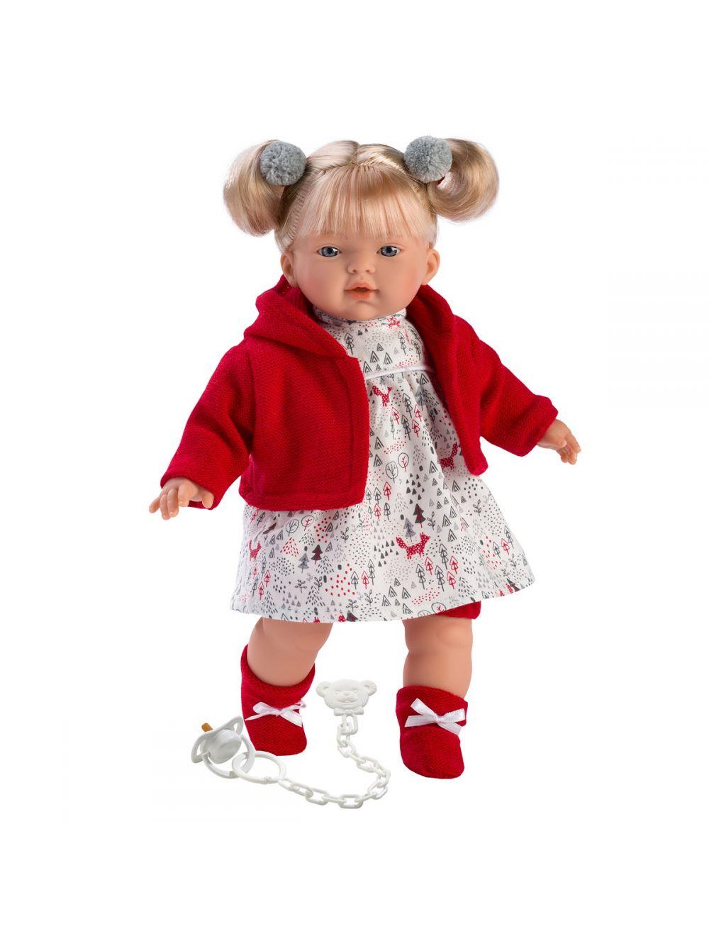 Llorens 33106 Lalka płacząca Aitana 33 cm czerwona blondynka