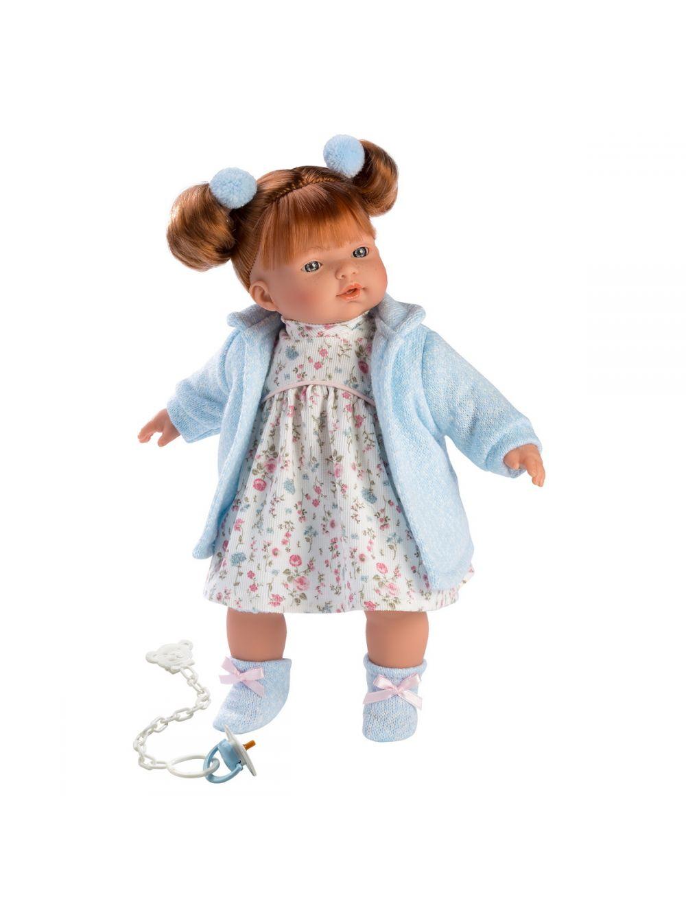 Llorens 33108 Lalka płacząca Lea 33 cm niebieska