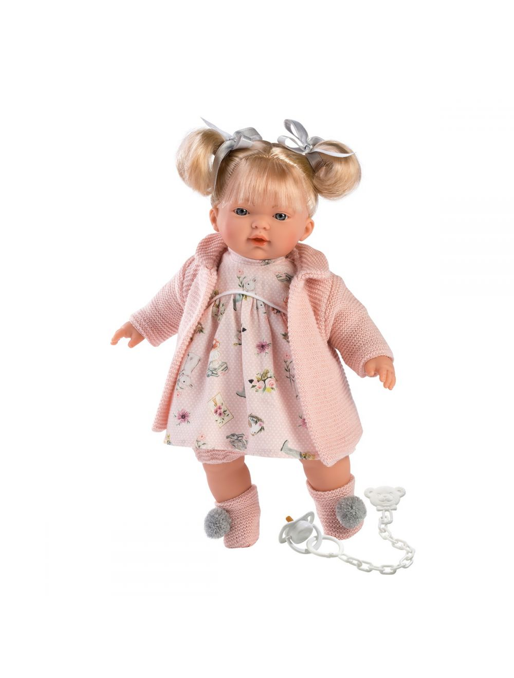 Llorens 33112 Lalka płacząca Aitana 33 cm cała różowa blondynka