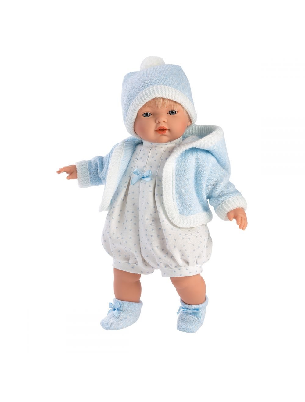 Llorens 33295 Lalka płacząca Roberto 33 cm niebieski chłopiec