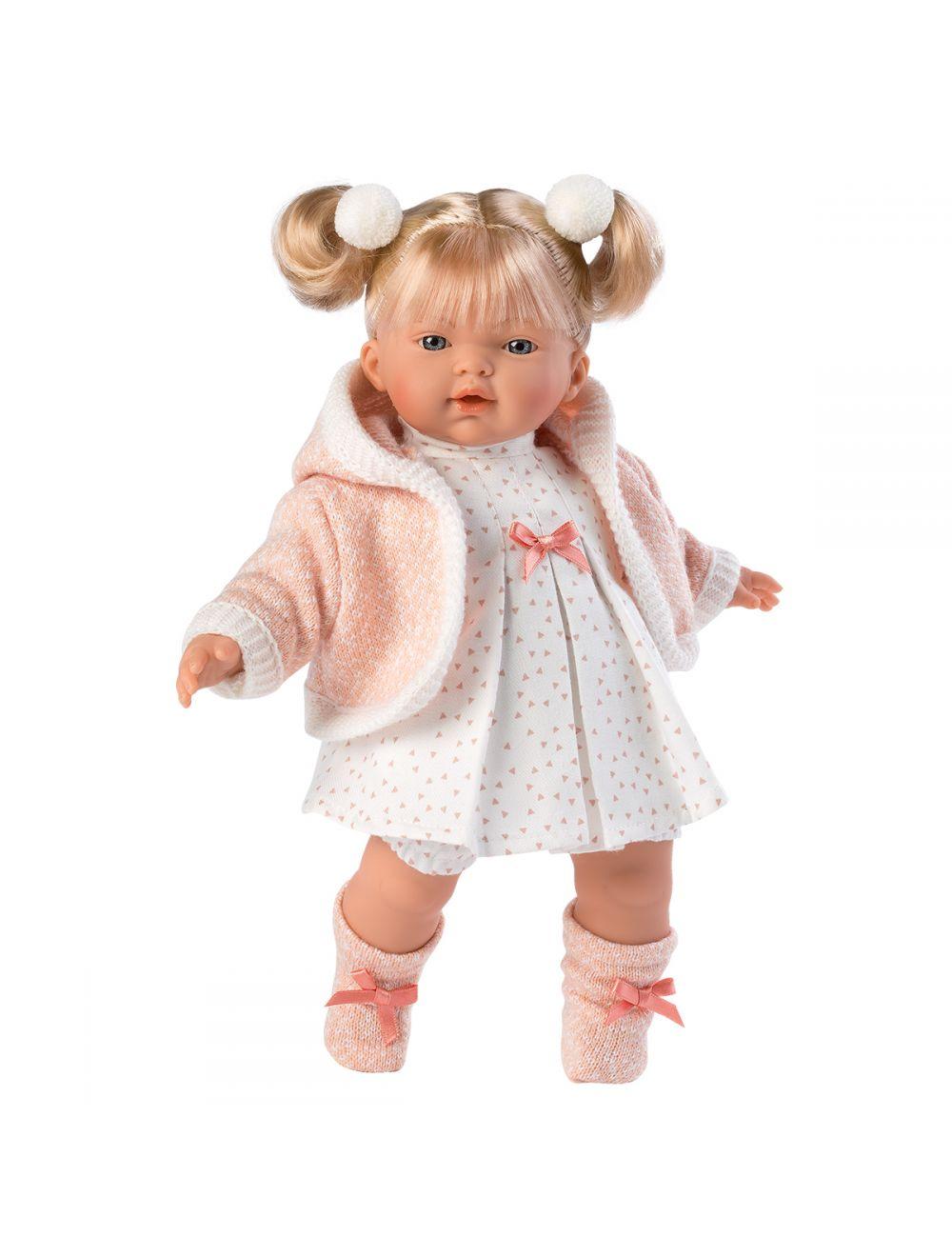 Llorens 33296 Lalka płacząca Roberta 33 cm różowa blondynka