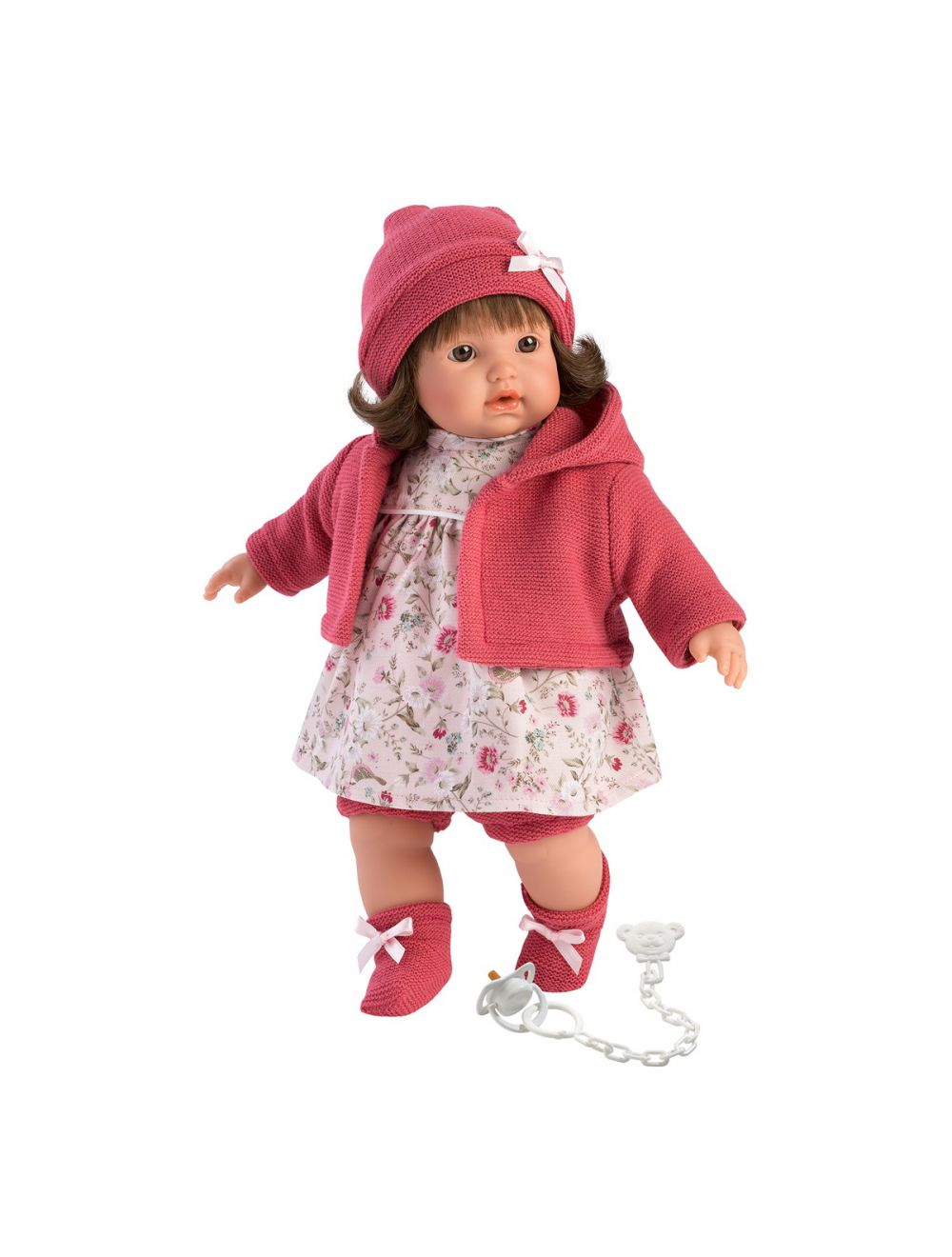 Llorens 33330 Lalka płacząca Aysel 33 cm różowa brunetka