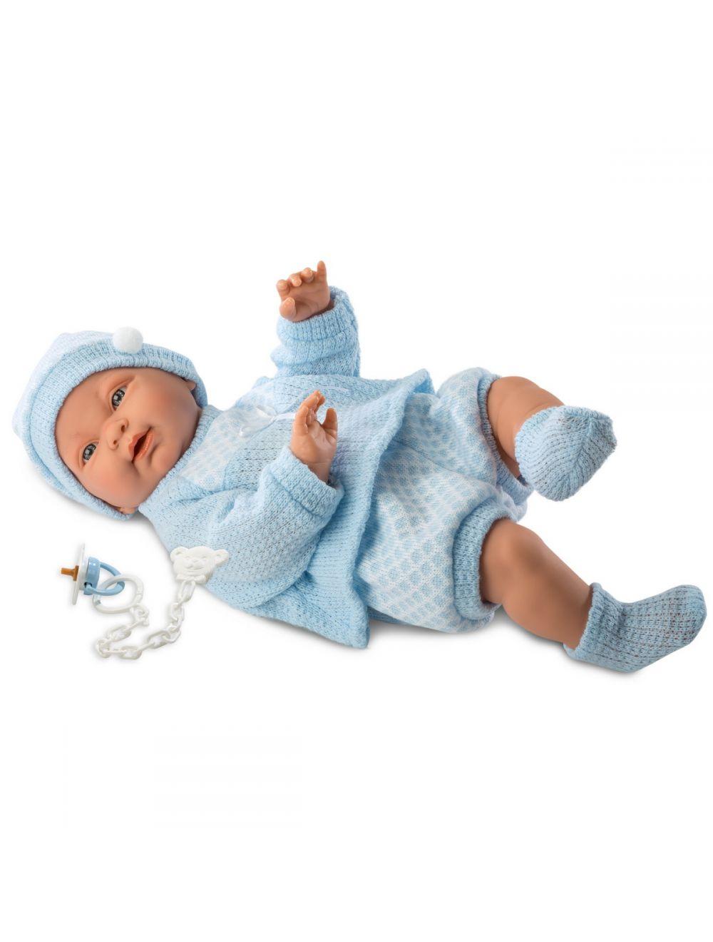 Llorens 45023 bobas Hugo 45 cm błękitny sweterek FB