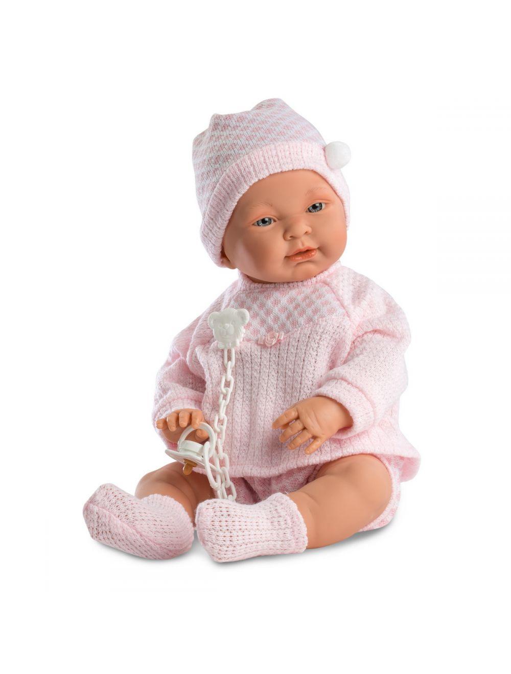 Llorens 45024 bobas Sofia 45 cm różowy sweterek FB