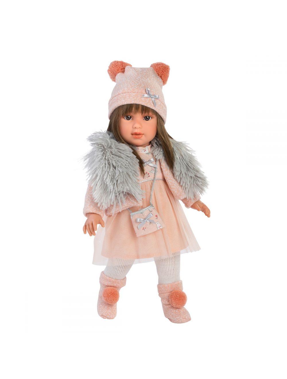 Llorens 54027 Lalka Leti 40 cm brunetka różowa sukienka