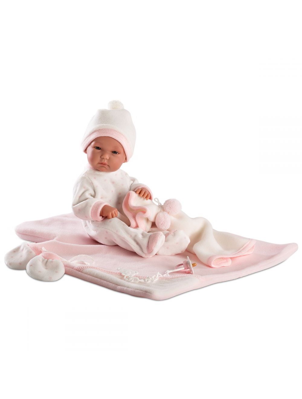 LLORENS Lalka Bimba w różowej piżamie, do przewijania  35 cm