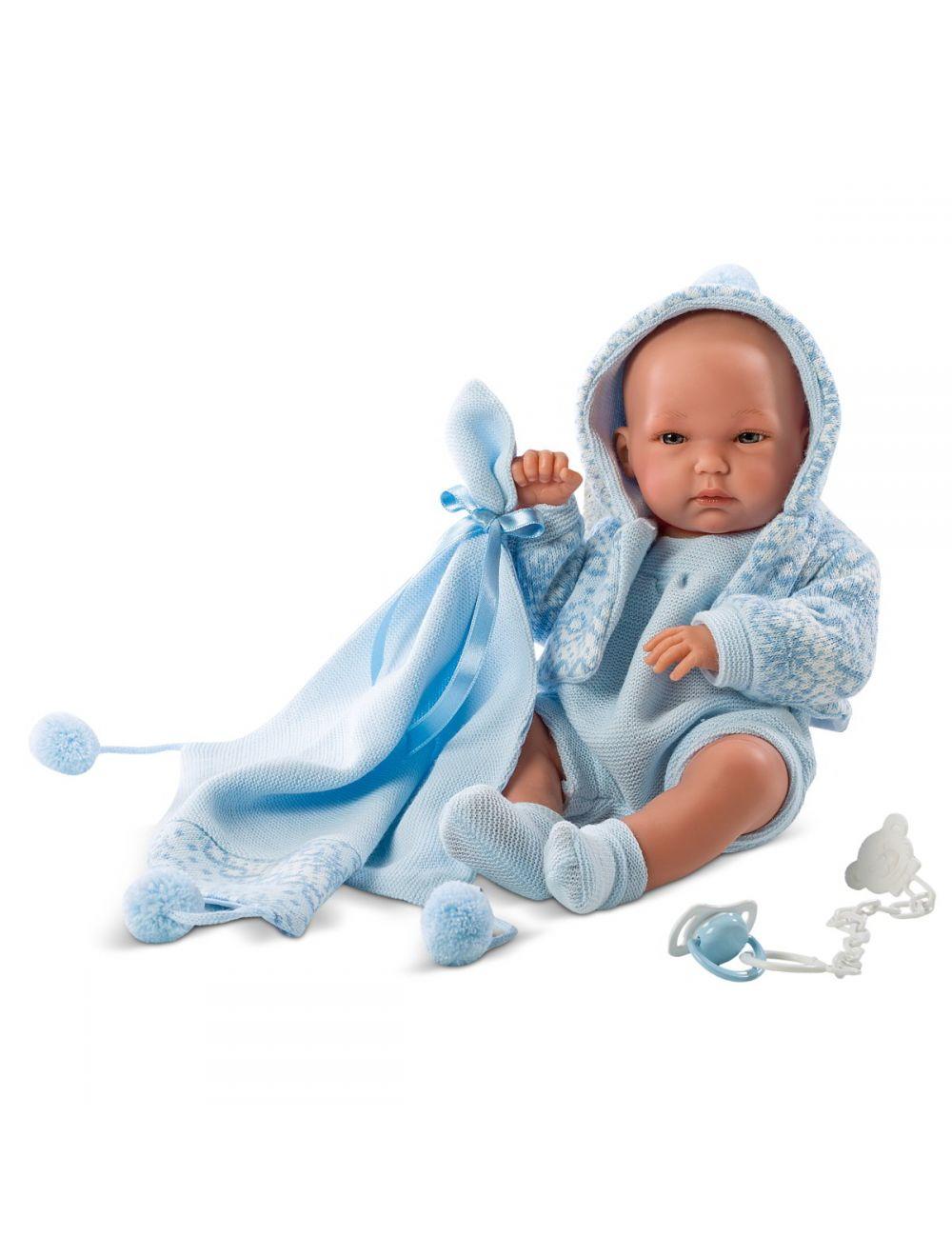 LLORENS Lalka Pipo w niebieskich śpioszkach 35 cm