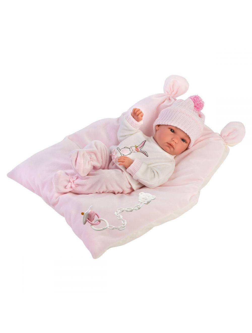 Llorens 63556 Lalka bobas Bimba 35 cm na różowej poduszce FB