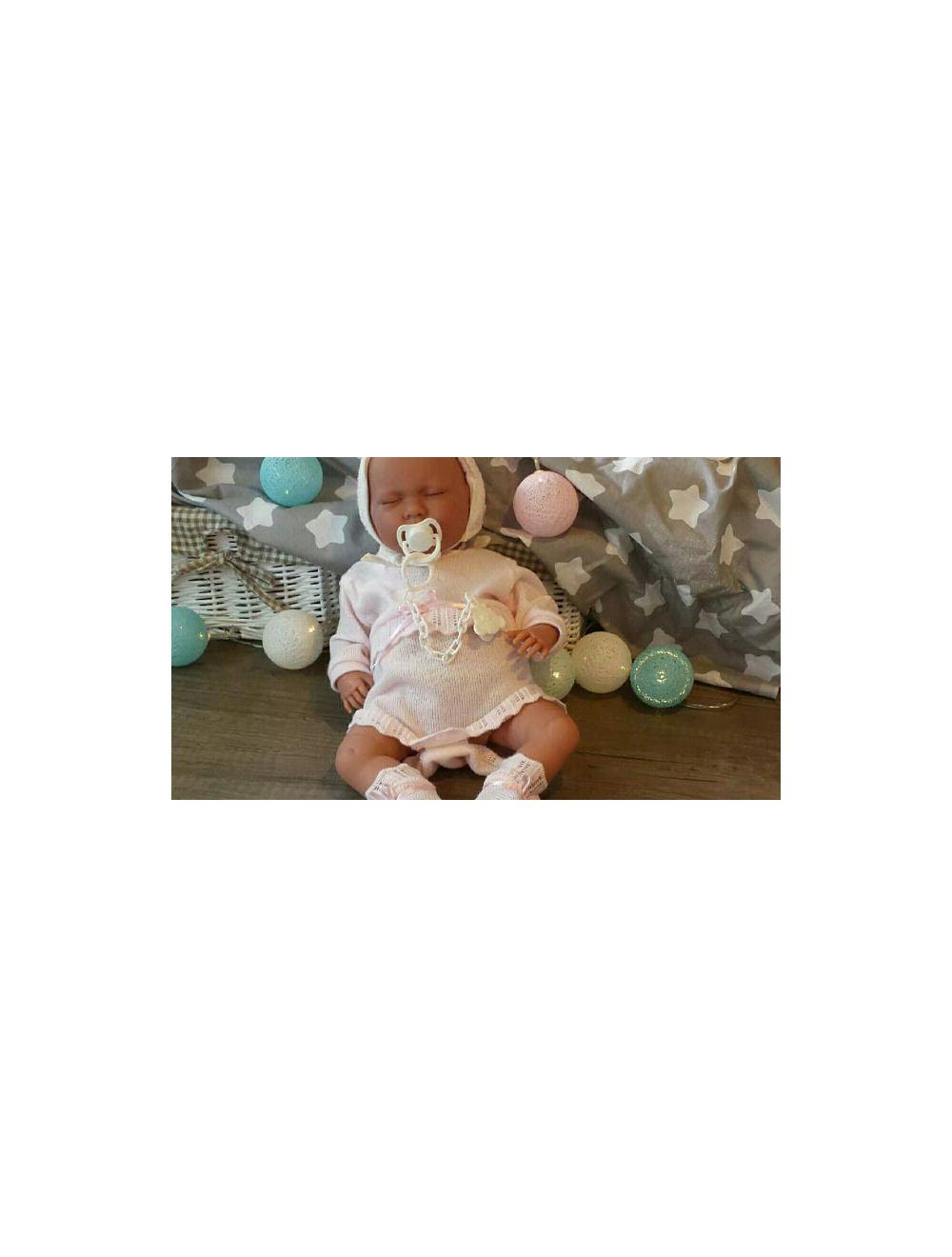 Llorens noworodek Lala w białym beciku 42 cm