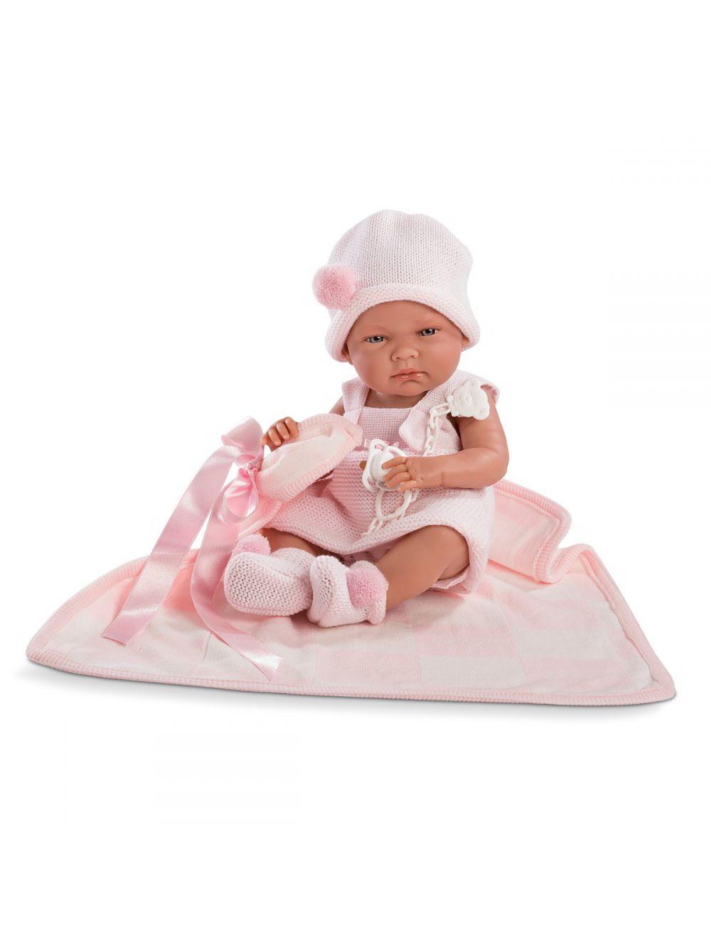 LLORENS Lalka Nica w różowej sukience 38 cm