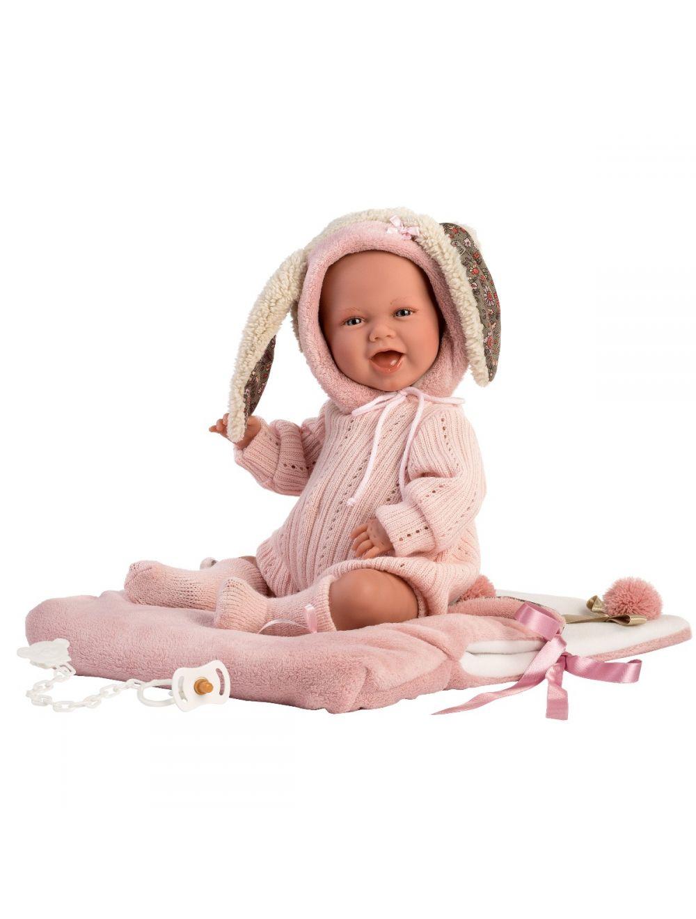 Llorens 74010 Lalka Śmiejący się bobas Mimi 42 cm