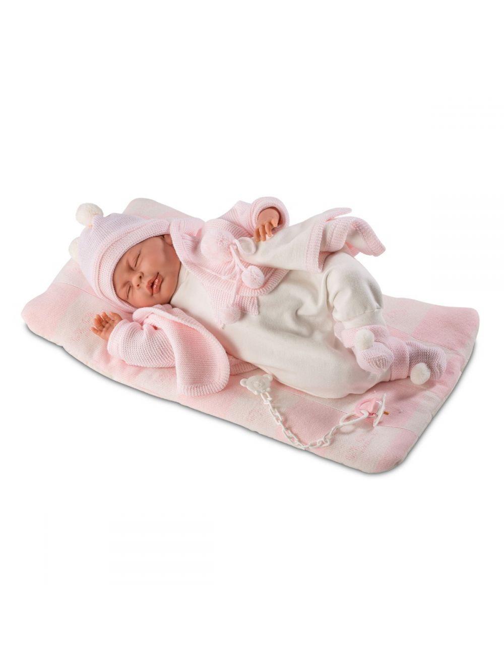 LLORENS Lalka Mimi w różowych śpioszkach 40 cm