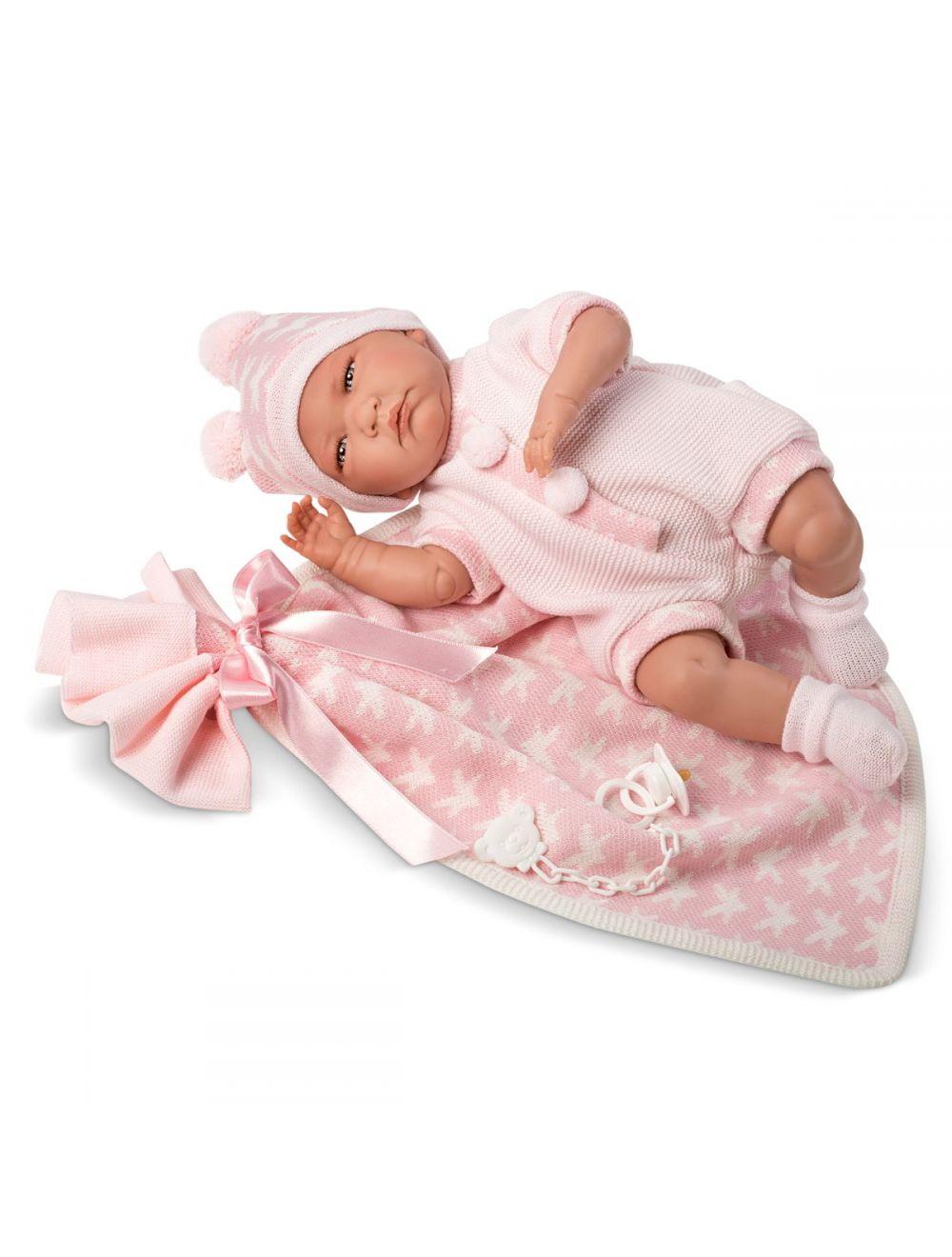 LLORENS Lalka Lala z różowymi gwiazdkami 40 cm