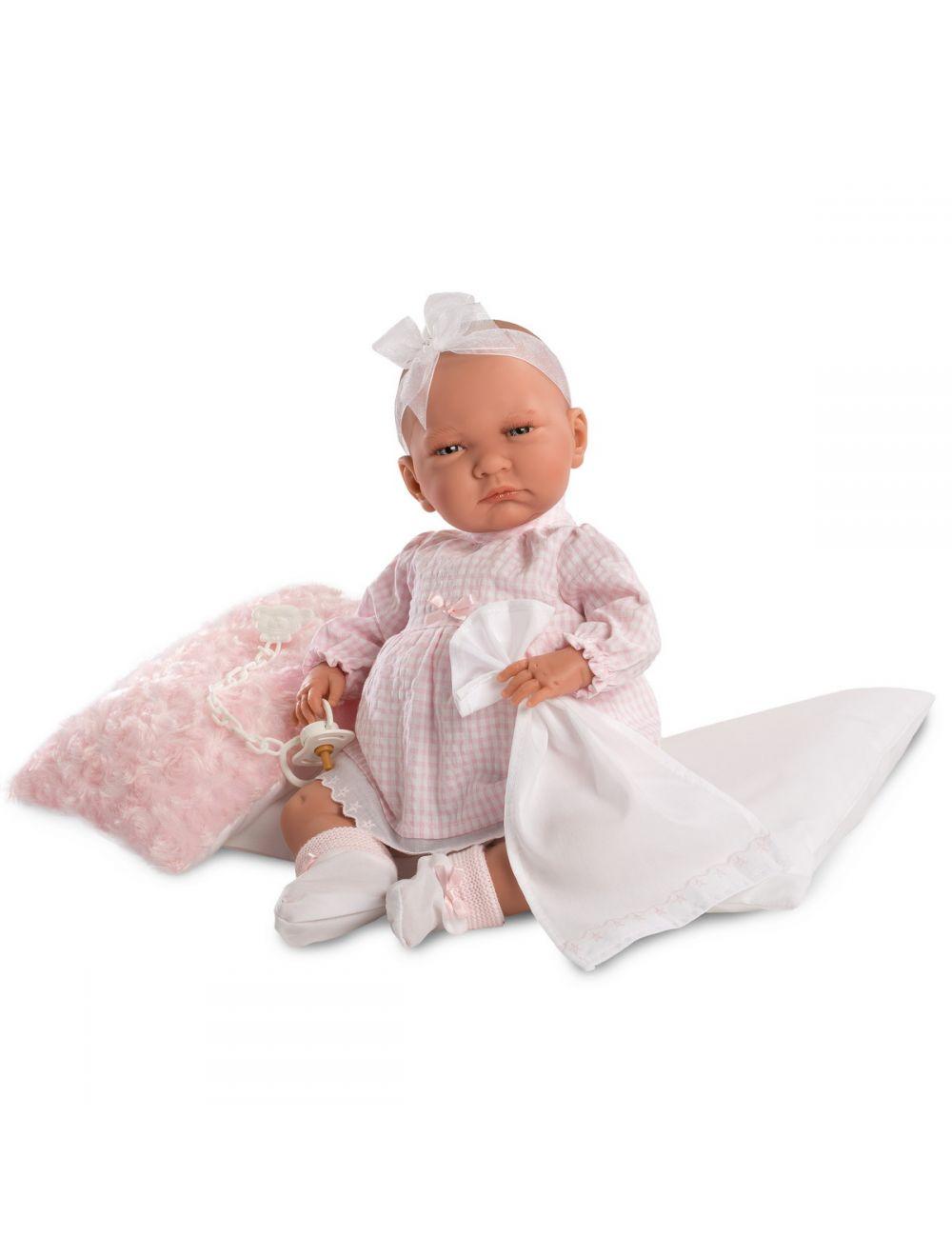 Llorens Noworodek Lala w różowej sukience 42 cm