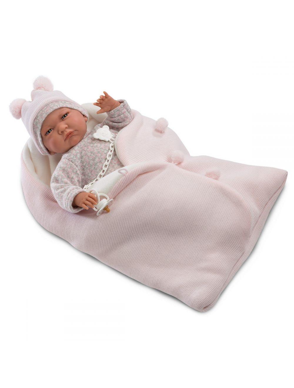Llorens Lala noworodek w różowym beciku 42 cm