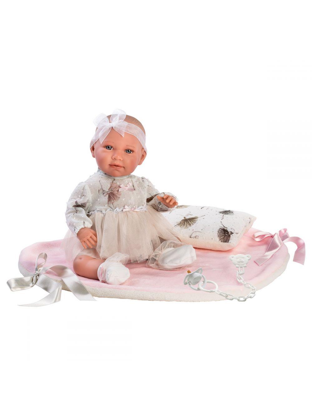 Llorens 74062 Lalka płacząca Mimi bobas różowy kocyk
