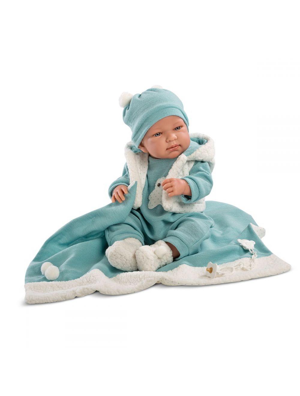 LLORENS Lalka Tino w niebieskim kostiumie 43 cm