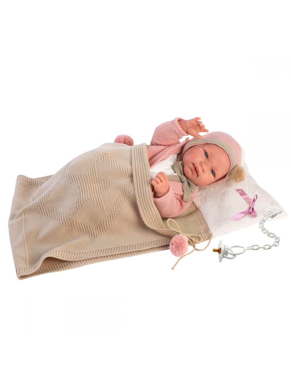 Llorens 84318 Lalka bobas Tina 43 cm w różowym sweterku FB